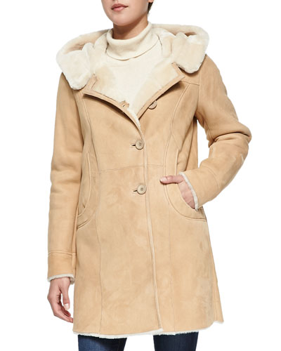 Shearling Lamb Hooded Coat