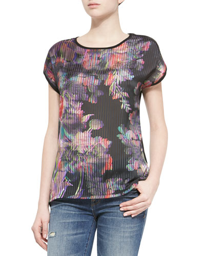 Short-Sleeve Tee with Holograph Print