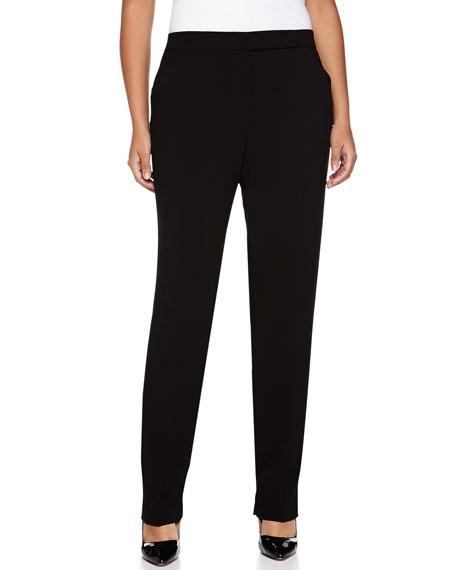 Giorgio Armani Cady Narrow Pants, Black