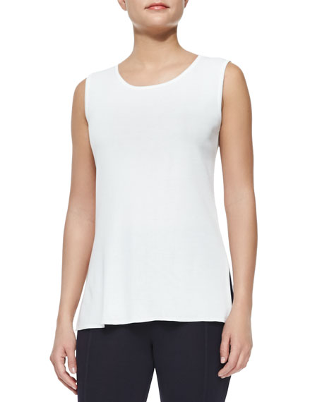 Misook Sleeveless Long Tank Top, Petite