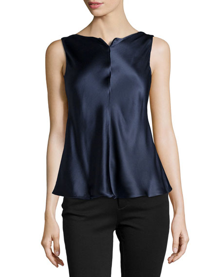 3eed505b259e Giorgio Armani Sleeveless Silk Satin Blouse