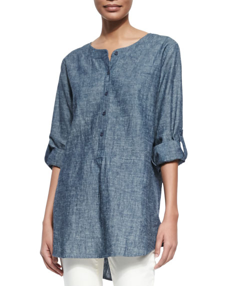 View our Chambray Tie Shoulder Tunic and shop our selection of designer women's plus size Tops, clothing and fashionable accessories.