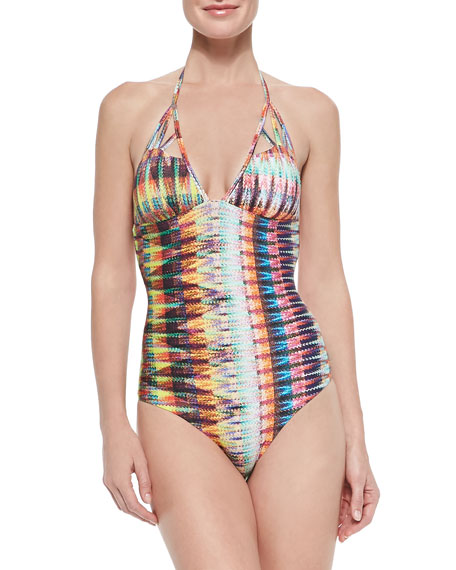 Sinu Printed Tie-Back One-Piece Swimsuit