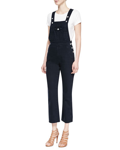 The Tennessee Cropped Denim Overalls