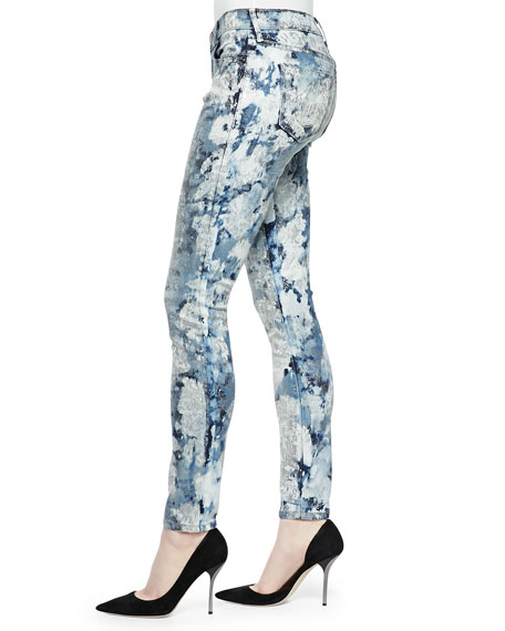 Casey Low-Rise Printed Skinny Jeans