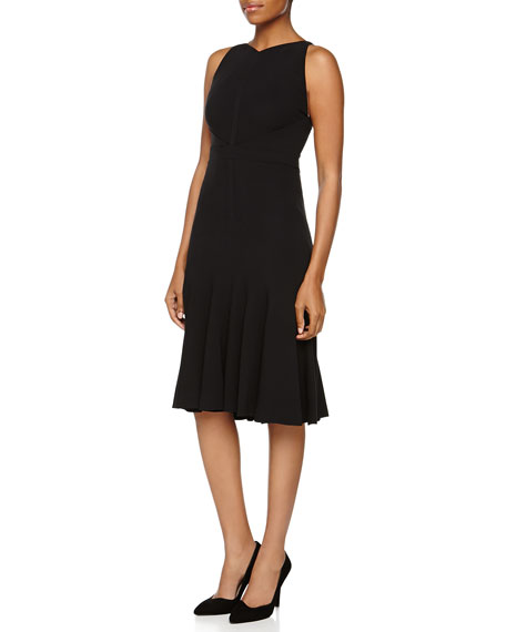 J. Mendel Sleeveless Silk Jersey Godet Dress