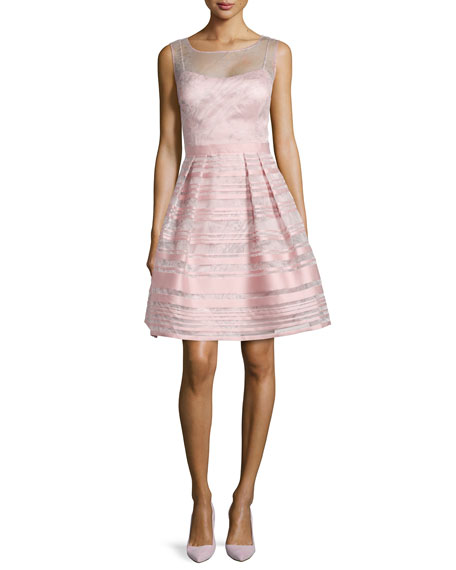 Kay Unger New York Cocktail Dress with Metallic