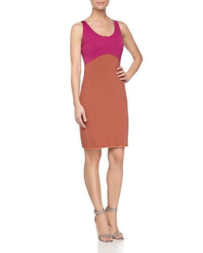 Sleeveless Colorblock Ponte Dress