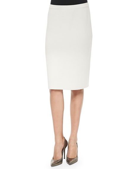 eileen fisher knee length silk cotton skirt bone