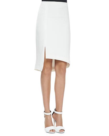 Haute Hippie Asymmetric Skirt W/ Tux Stripe &