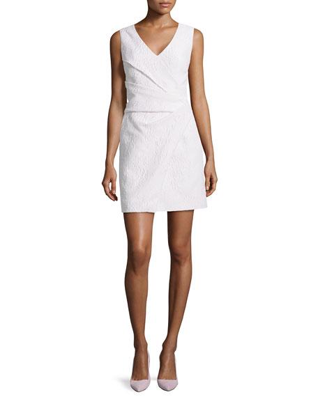 J. Mendel Jacquard Wrap-Skirt Dress, Nuage