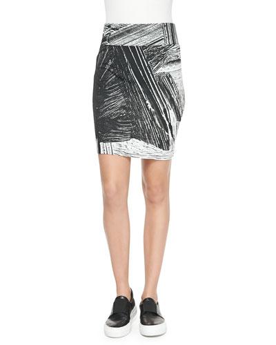 Method Printed Jersey Pencil Skirt
