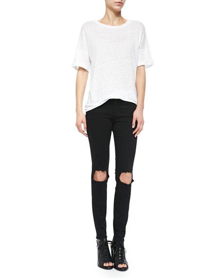 FRAME Le Color Destroy Skinny Jeans
