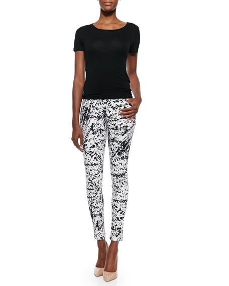 Labyrinth Printed Skinny-Fit Jeans