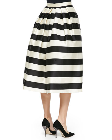 Escalante Striped Full Satin Skirt