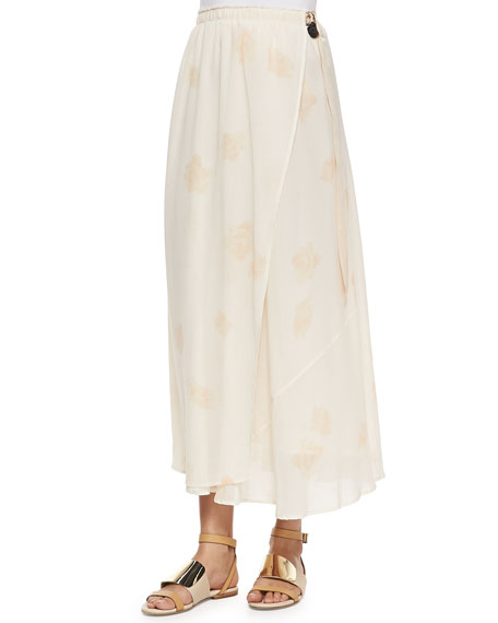 Band of Outsiders Printed Maxi Wrap Skirt