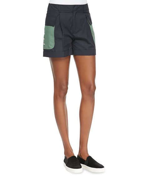 Band of Outsiders Classic Cuffed Utility Shorts