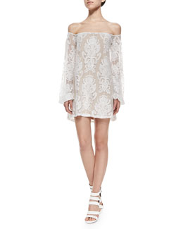 San Marcos Off-the-Shoulder Lace Dress
