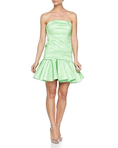Strapless Taffeta Dress, Summer Green