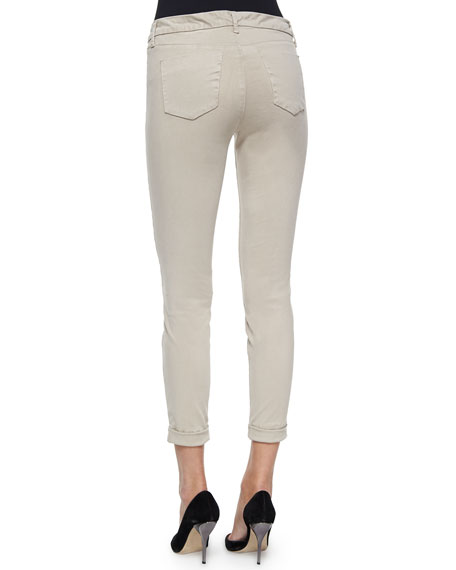 Anja Cuffed Cropped Jeans, Concrete Dust