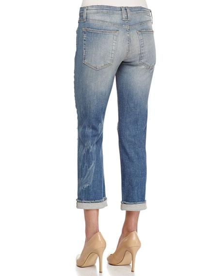 Gretchen Slim-Fit Distressed Boyfriend Jeans
