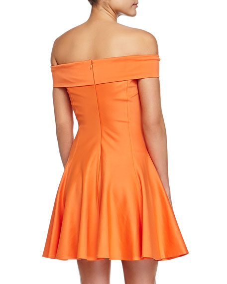 Off-the-Shoulder Dress, Flame