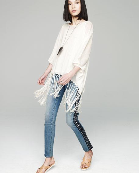 Verdugo Embellished Tuxedo Stripe Jeans