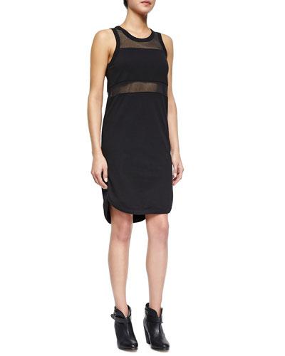 The Marlo Mesh-Inset Dress