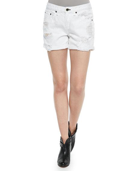 rag & bone/JEAN The Boyfriend Distressed Rolled-Cuffs Shorts ...