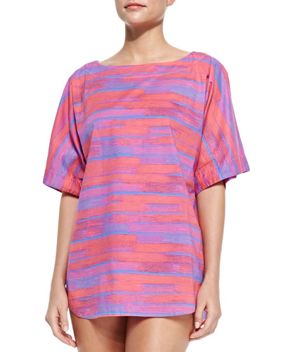 Jenny Oversize Striped Cotton Coverup