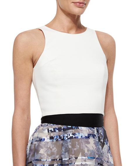 Sachin & Babi Noir Back-Cutout Crop Top, Ivory