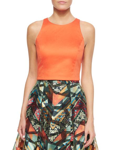 Sachin & Babi Sleeveless Crop Top, Orange