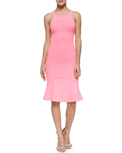 Flying Kenzo Ruffle-Hem Dress, Deep Fuchsia