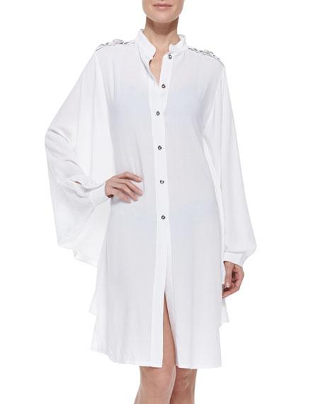 La Perla Portofino Camicia Jewel-Shoulder Coverup