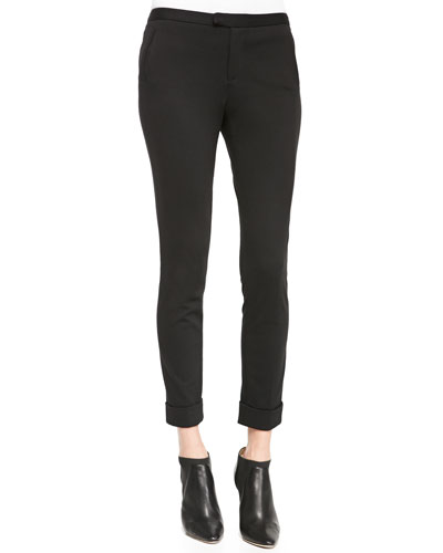 Ankle Pants W/ Rolled Cuffs