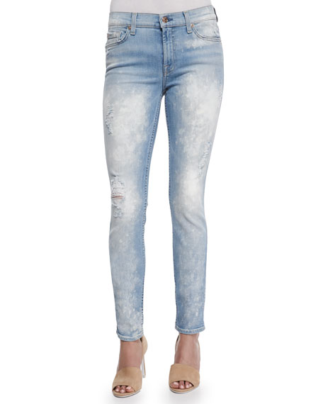 The Skinny Bleached & Destroyed Denim Jeans