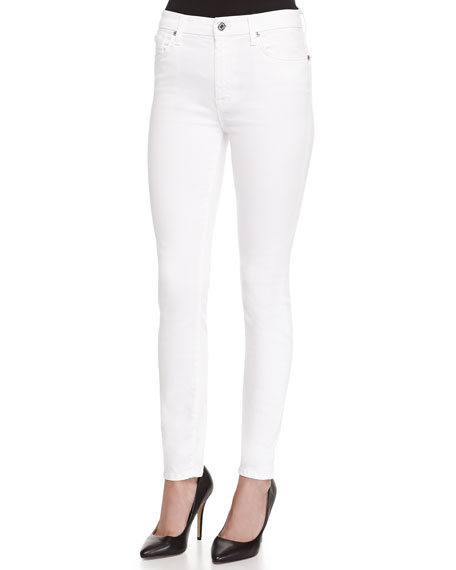 7 for all mankind The High-Waist Ankle Skinny-Fit