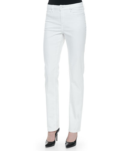 Madison Straight High-Rise Jeans, White