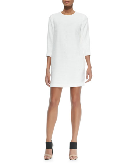 Vince Round-Neck Jacquard Dress