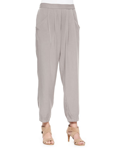 Slouchy Twill Ankle Pants, Women's