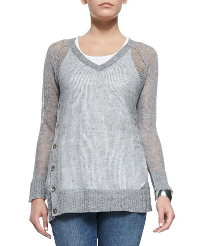 Fisher Project Rustic V-Neck Top