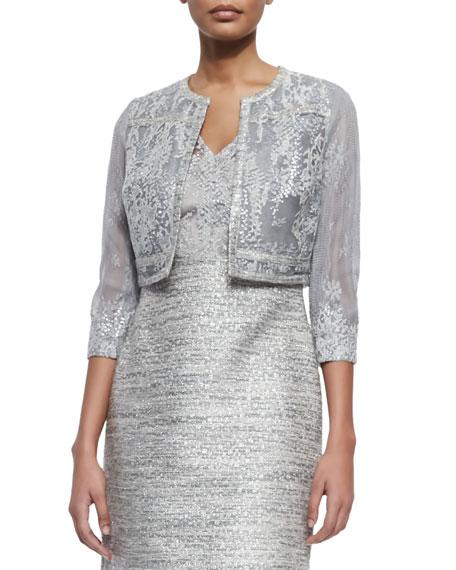 Cropped jacket cocktail dress