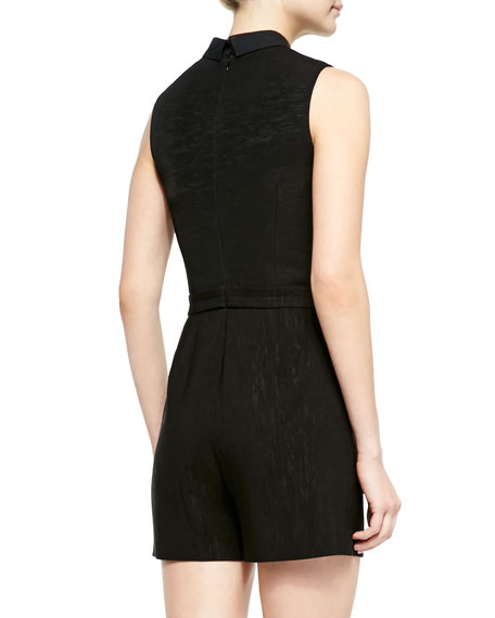 Delos Sleeveless Collared Jumpsuit