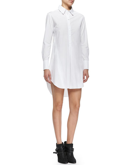 Marissa Webb Felix Long-Sleeve Cotton Shirtdress