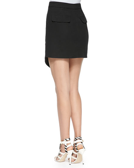 Loris Scissor-Front Mini Skirt