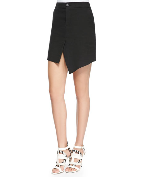 Marissa Webb Loris Scissor-Front Mini Skirt