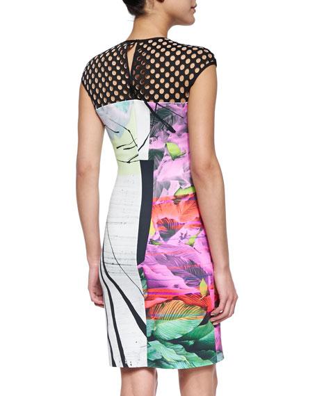 Painted Garden Cutout-Top Dress