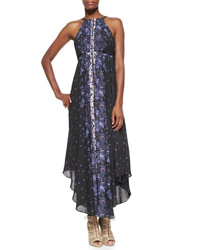Halter-Style Handkerchief-Hem Dress