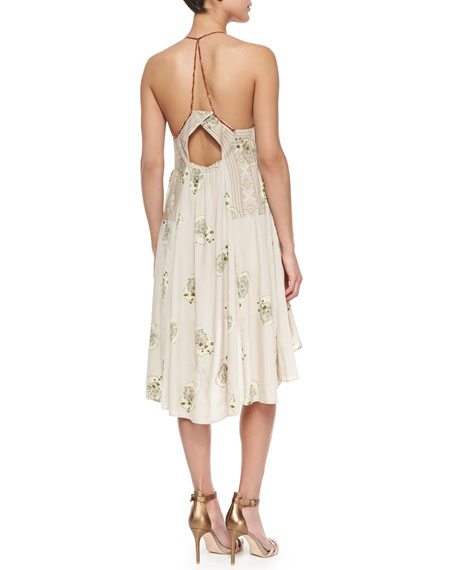 Halter-Style Dress with High-Low Hem