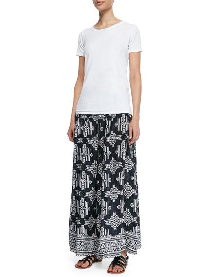 tolani margie tribal print maxi skirt